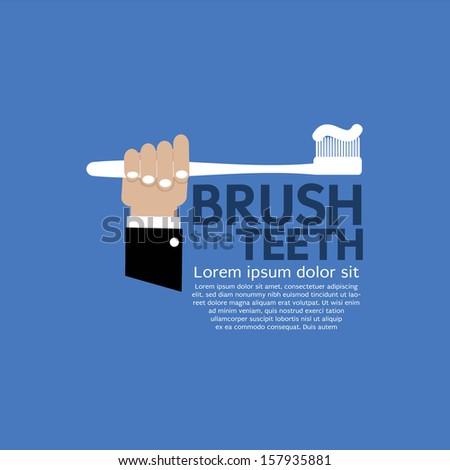Teeth Brushing Vector Illustration EPS10 - stock vector