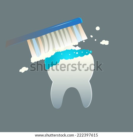 Teeth cleaning - stock vector