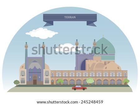 Tehran, Iran  - stock vector