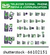 Telecom, media and communication icons. vector Icons for Web Applications. Phone for  Business, Office, Internet, School and Education. - stock vector