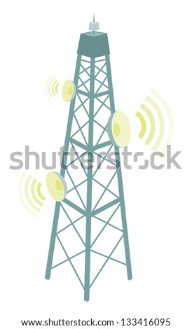 Broadcast Tower Vector Broadcast Tower Stock ...