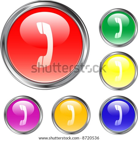 Telephone Handset Buttons - stock vector