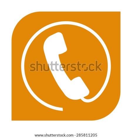 Telephone handset icon - stock vector
