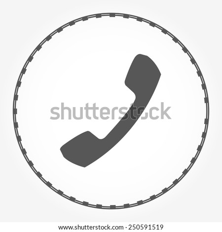 telephone handset icon vector - stock vector