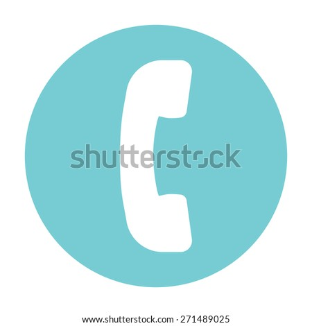 Telephone handset, telephone receiver icon - stock vector