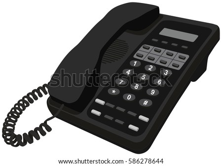 Telephone Home Office Desk Phone Object Stock Vector ... | 450 x 337 jpeg 23kB