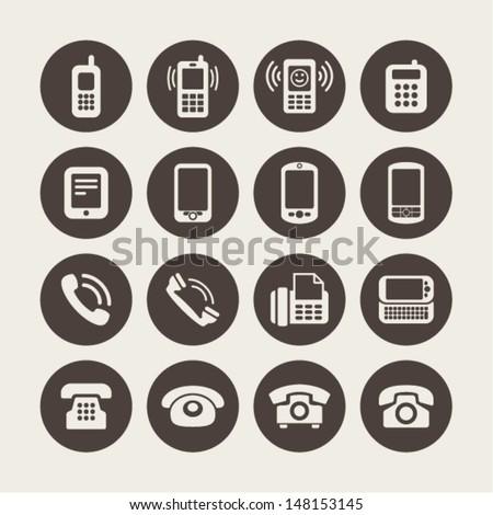 Telephone icon - stock vector