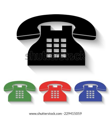 Red Telephone Icon
