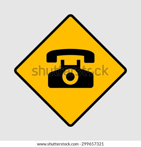 Telephone icon great for any use. Vector EPS10. - stock vector