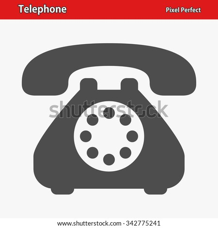 Telephone Icon. Professional, pixel perfect icons optimized for both large and small resolutions. EPS 8 format. - stock vector