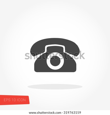 Telephone Icon / Telephone Icon Vector / Telephone Icon Image / Telephone Icon Graphic / Telephone Icon Art / Telephone Icon JPG / Telephone Icon JPEG / Telephone Icon EPS / Telephone Icon AI - stock vector