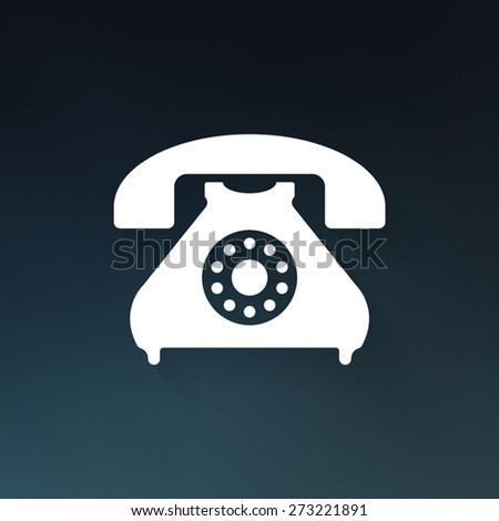 Telephone icon - Vector - stock vector