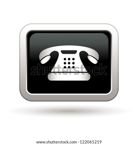 Telephone icon. Vector illustration - stock vector