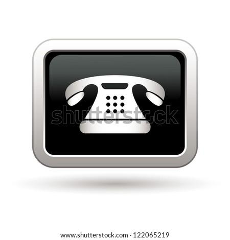 Telephone icon. Vector illustration - stock vector