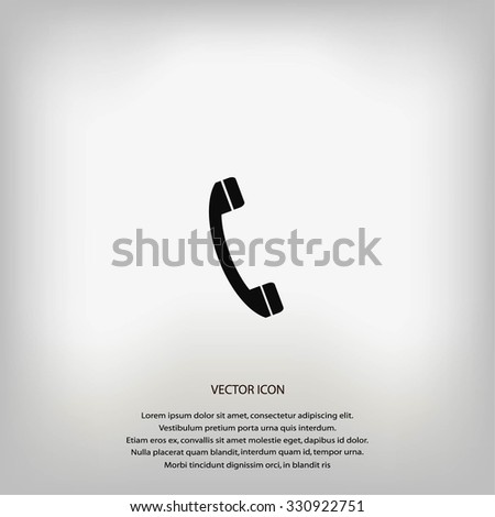 Telephone receiver vector icon - stock vector