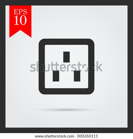 Telephone socket icon