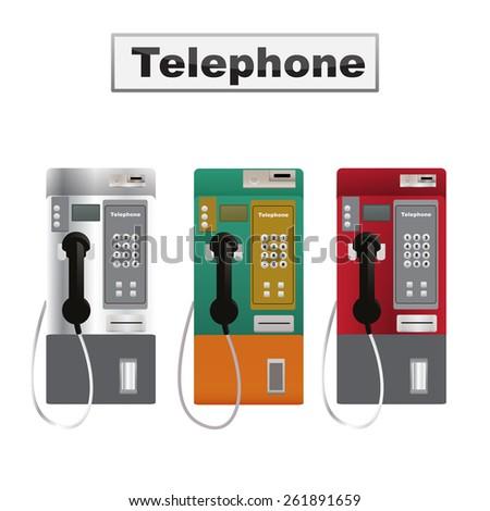 Telephone  vector - stock vector