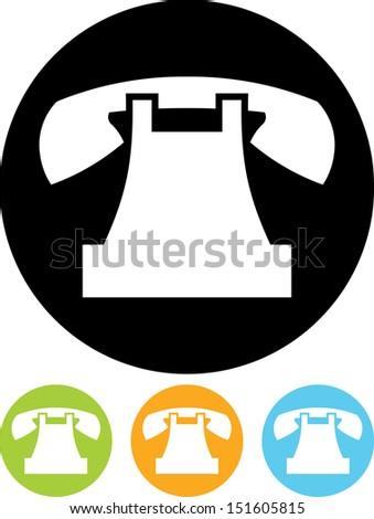 Telephone vector icon isolated  - stock vector