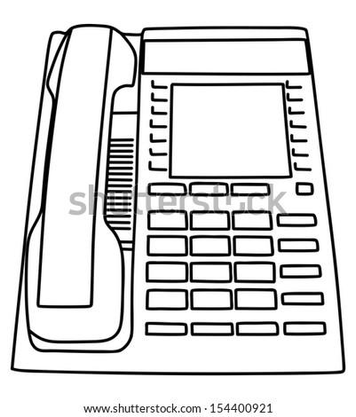 telephone, vector illustration - stock vector