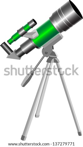 Telescope - stock vector