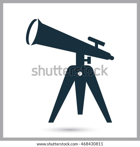 Telescope icon on the background