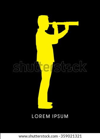 Telescope looking, Business, Vision graphic vector - stock vector