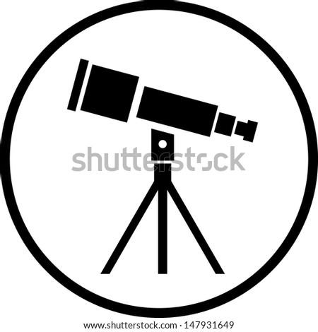 Telescope vector icon  - stock vector