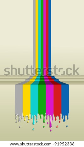 Television bars signal. TV concept illustration. - stock vector