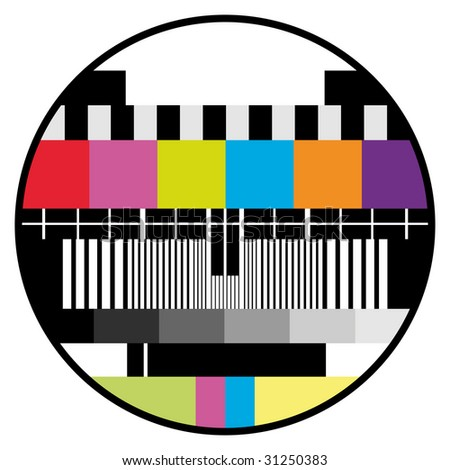 television color test - stock vector