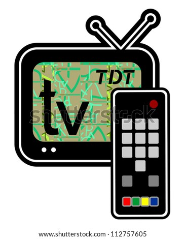 Television draw - stock vector
