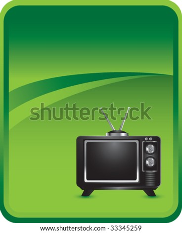 television icon on green background