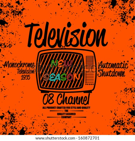 TELEVISION VECTOR - stock vector
