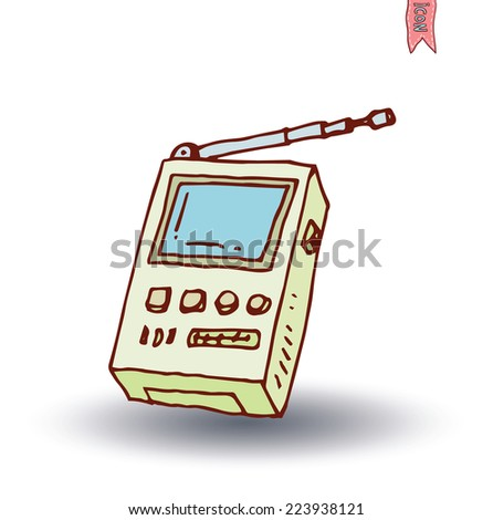 Televisions, vintage, vector illustration - stock vector