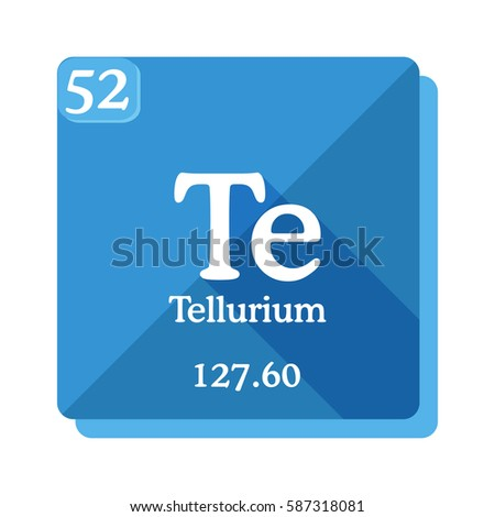 Tellurium te element periodic table flat stock vector 2018 tellurium te element of the periodic table flat icon with long shadow urtaz Image collections