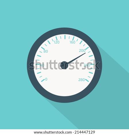 temperature gauge flat - stock vector