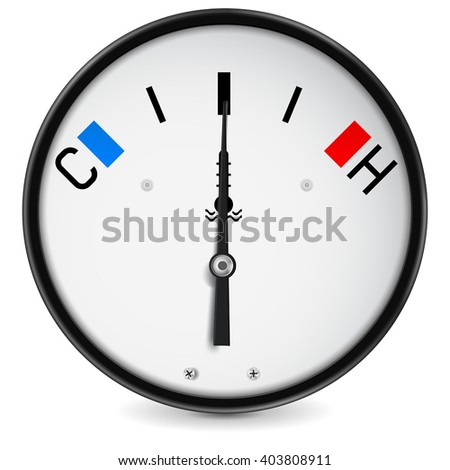 Temperature gauge. Vector illustration isolated on white background