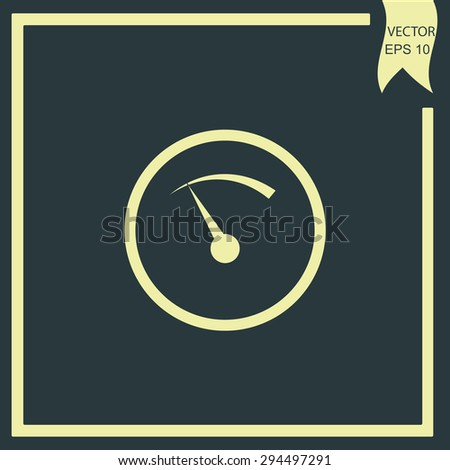 temperature indicator - stock vector