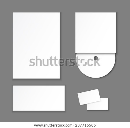 Template and mock up of corporate identity elements. Vector editable illustration. - stock vector