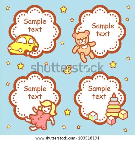Template Baby Label Stock Vector 103518191 - Shutterstock