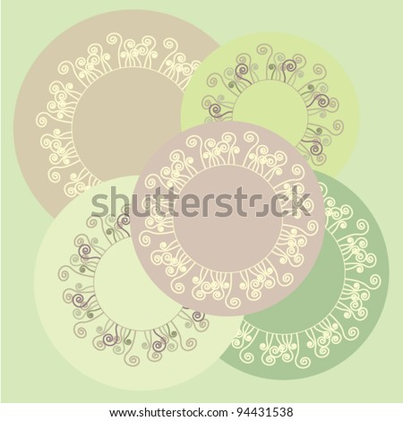 Template background - stock vector