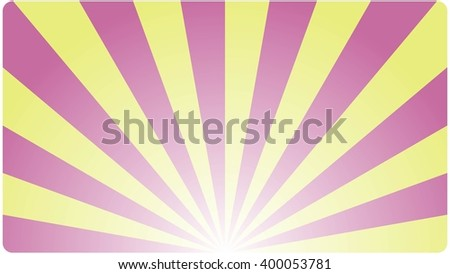 Template Background business card  with an abstract geometric design red yellow rays. Vector illustration.