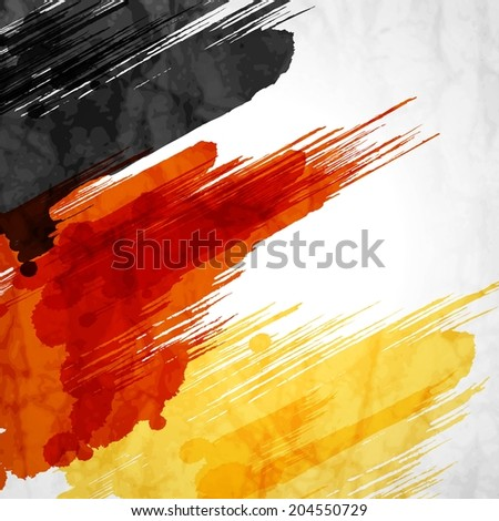 Template background.German flag made of colorful splashes - stock vector