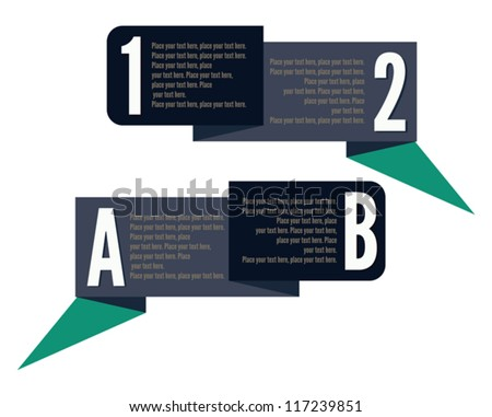 template banner numbers letters stock vector 117239851 shutterstock
