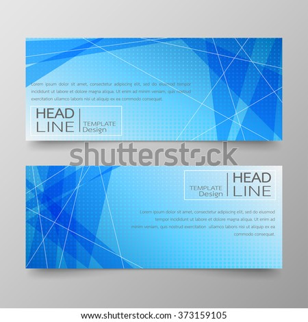 Template banners and text box infographics for design abstract background. - stock vector