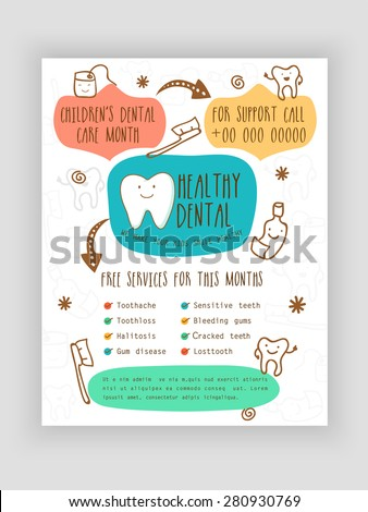 Template, Brochure or Flyer presentation for Healthy Dental concept. - stock vector