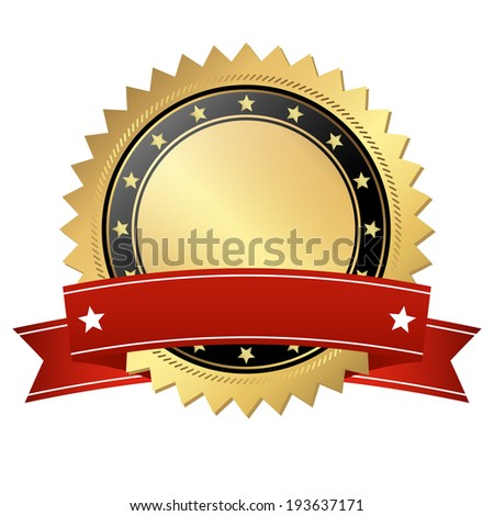 Template button with banner - stock vector