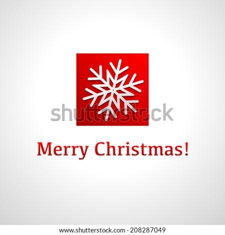 Template christmas card with snowflake. Modern design. Vector. - stock vector