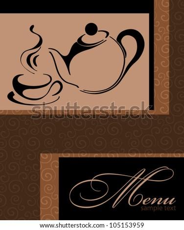 Template Coffee shop menu - stock vector