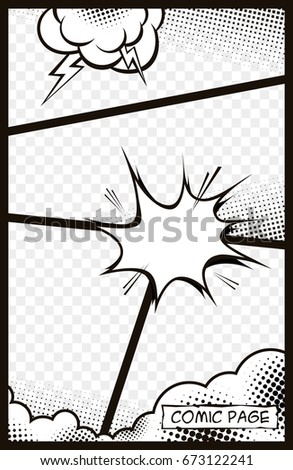 Comic Template Stock Images, Royalty-Free Images & Vectors