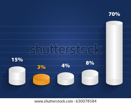Template 3 d cylinder columns chart design stock vector 630078584 template 3d cylinder columns chart design can be used for workflow presentation web design maxwellsz